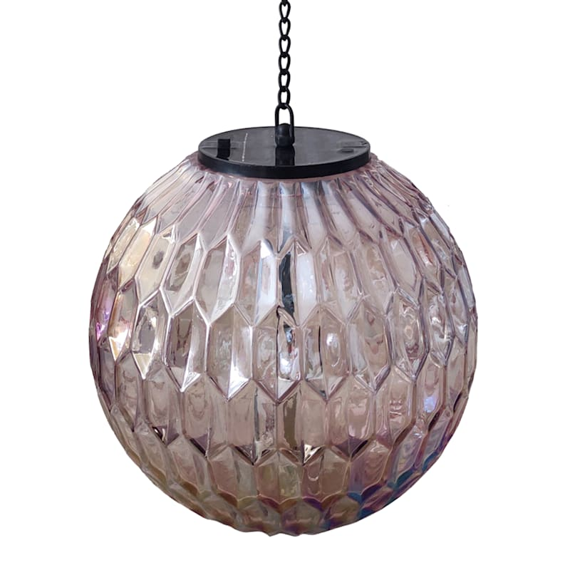 8in. Solar Glass Microdot Lantern