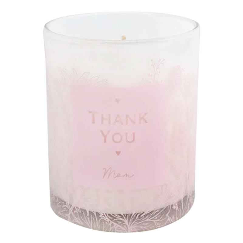 8oz. Thank You Mom Purple Glass Candle