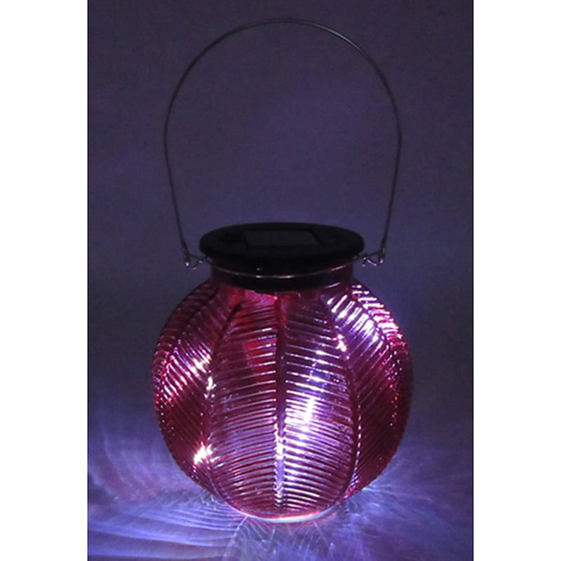 Glass Round Red Lantern/Solar Powered Led String Lights