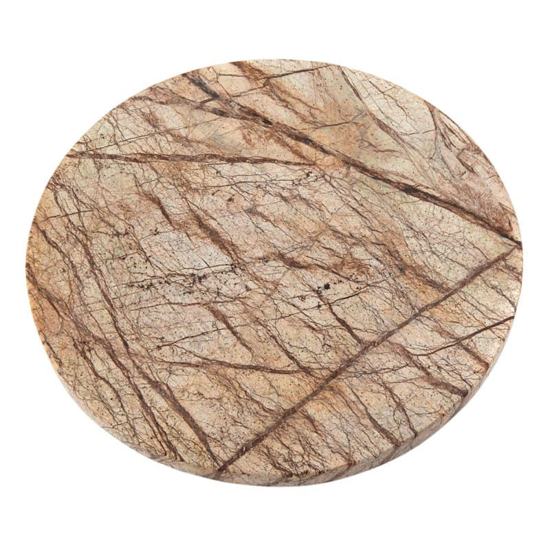 TRIVET - RND RAINFOREST MARBLE