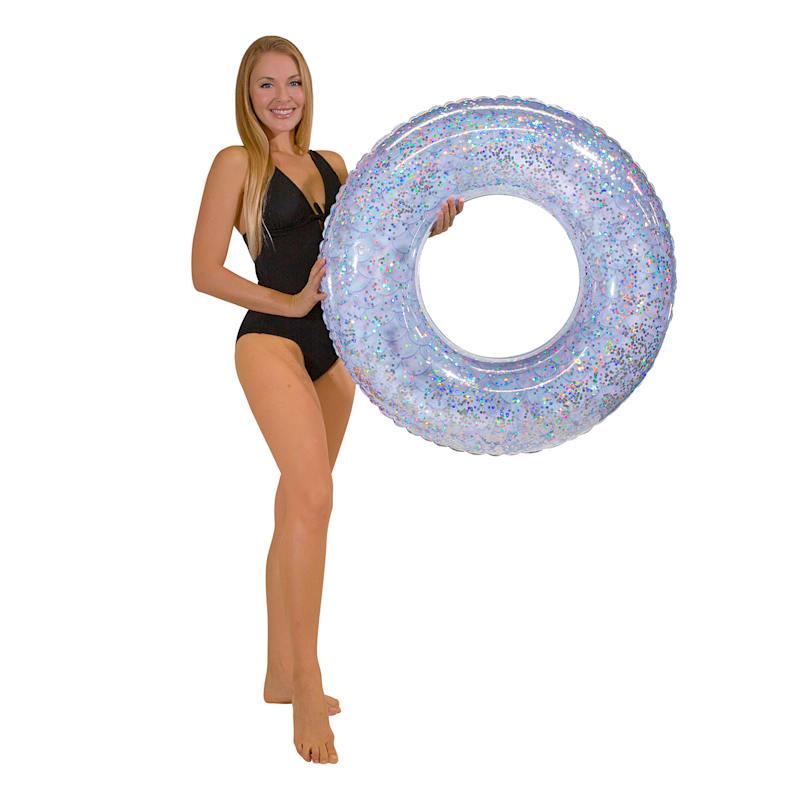36in. Mermaid Glitter Pool Tube