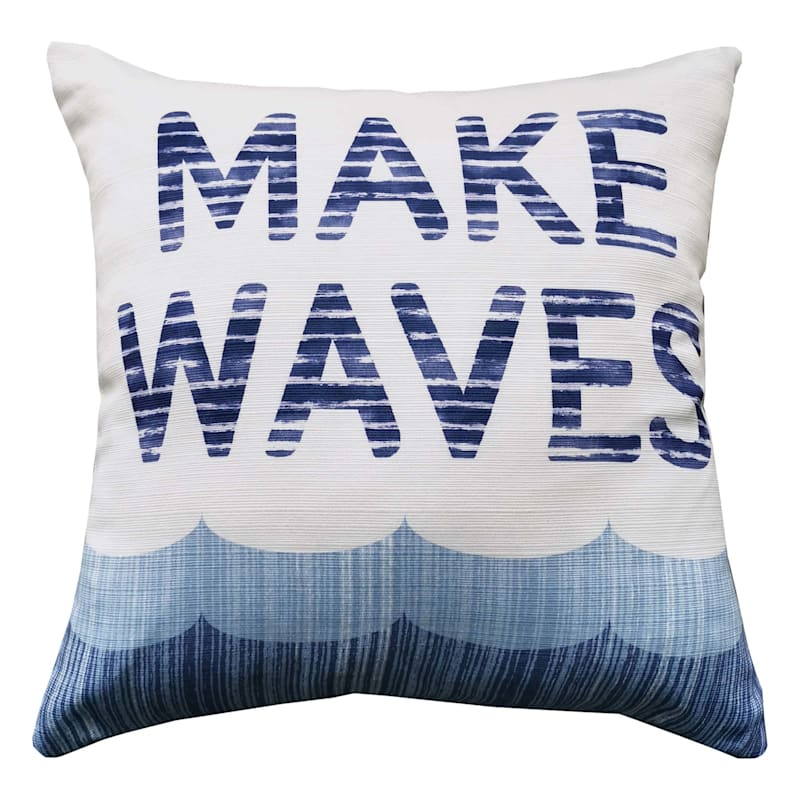 MAKE WAVES STRIPED PILLOW 18IN