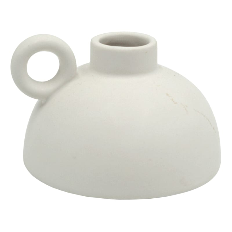 Tracey Boyd 4X3IN WHT CER VASE W HANDLE