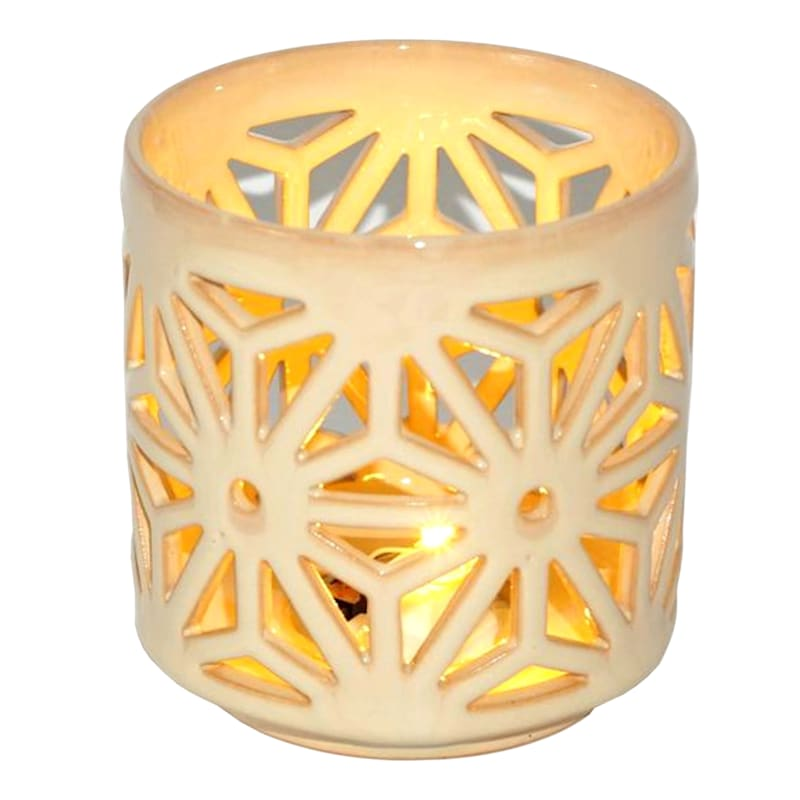 Tracey Boyd 3X3 LED WHT CER VOTIVE