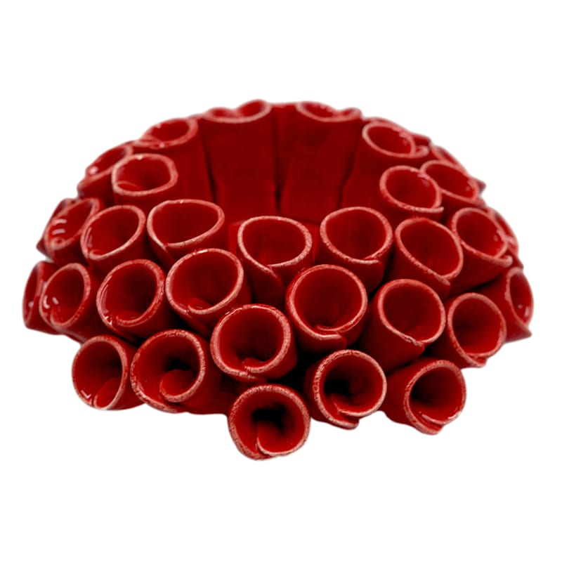 5in. Ceramic Coral Candle Holder