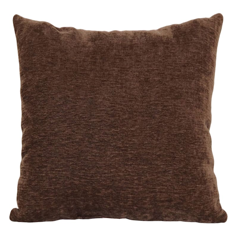 """Reese Brown Chenille Throw Pillow, 24"""""""