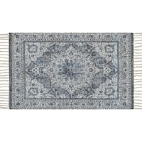 Raina Woven Traditional Blue Accent Rug, 2x4