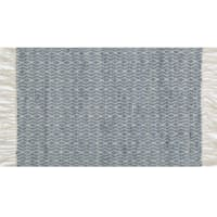 Eastside Grey Cotton Blend Accent Rug With Fringe, 2x4
