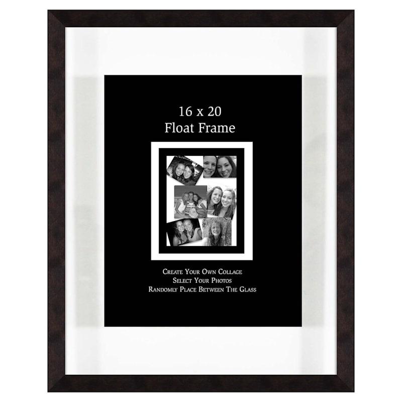 16X20 Chestnut Float Wall Photo Frame