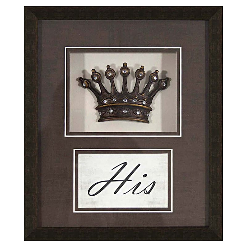 10X12 His Hers Crowns Matted Framed/Glass