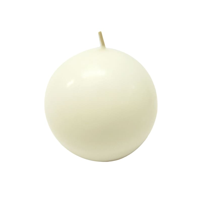 2.8in. Overdip Sphere Candle White
