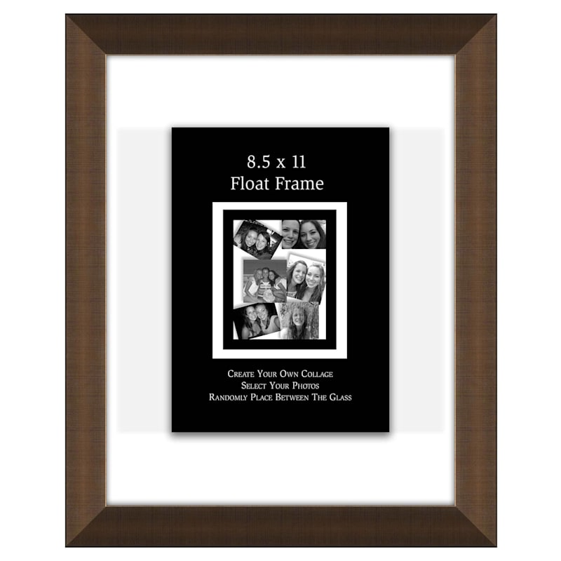 8.5X11 Gold Float Wall Photo Frame