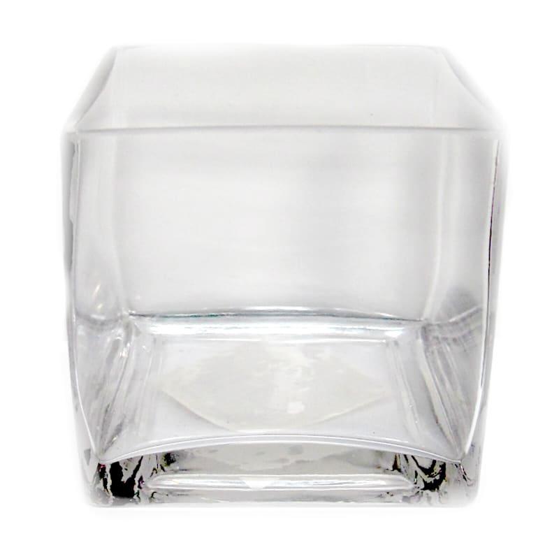 "Glass Cube Vase, 4"""