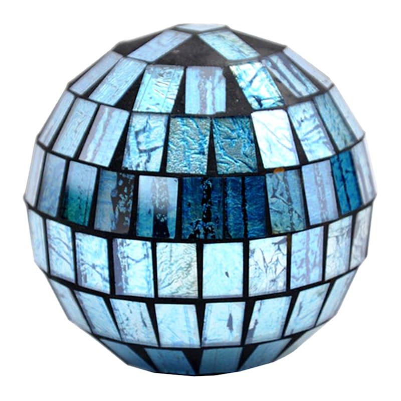 4in. Blue Mosaic Sphere