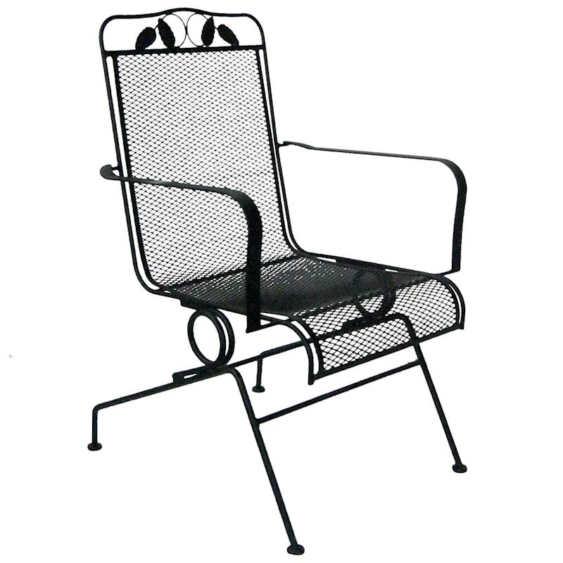 Steel Wrought Iron Outdoor Motion Chair