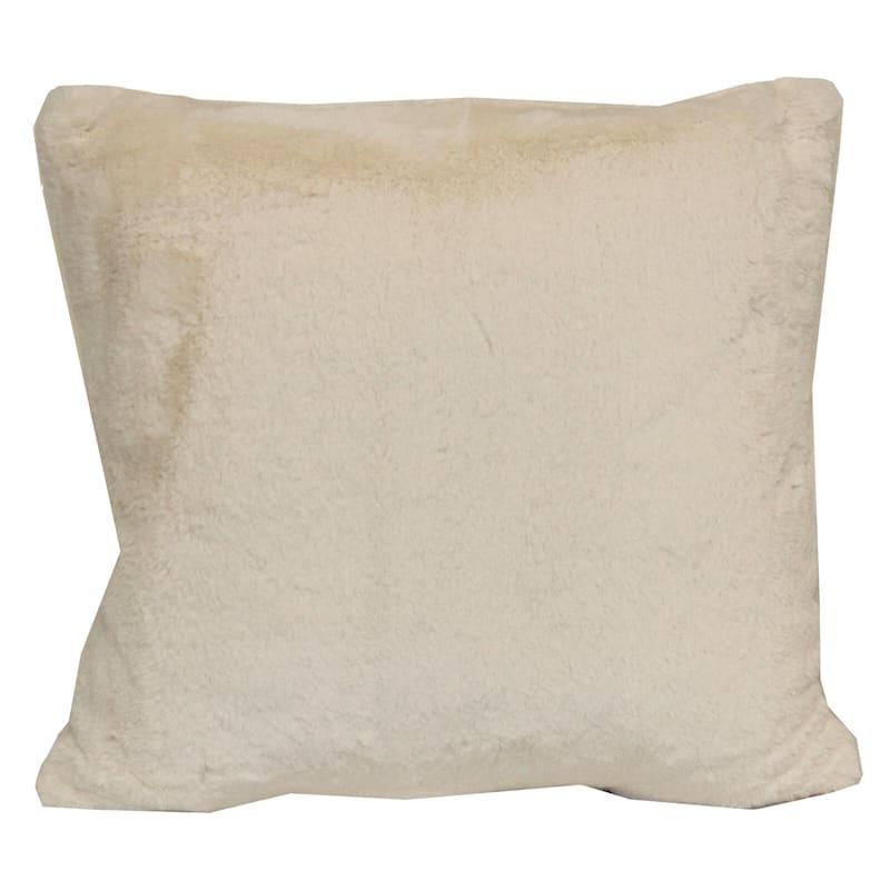 Bristol Ivory Faux Fur Pillow 18X18