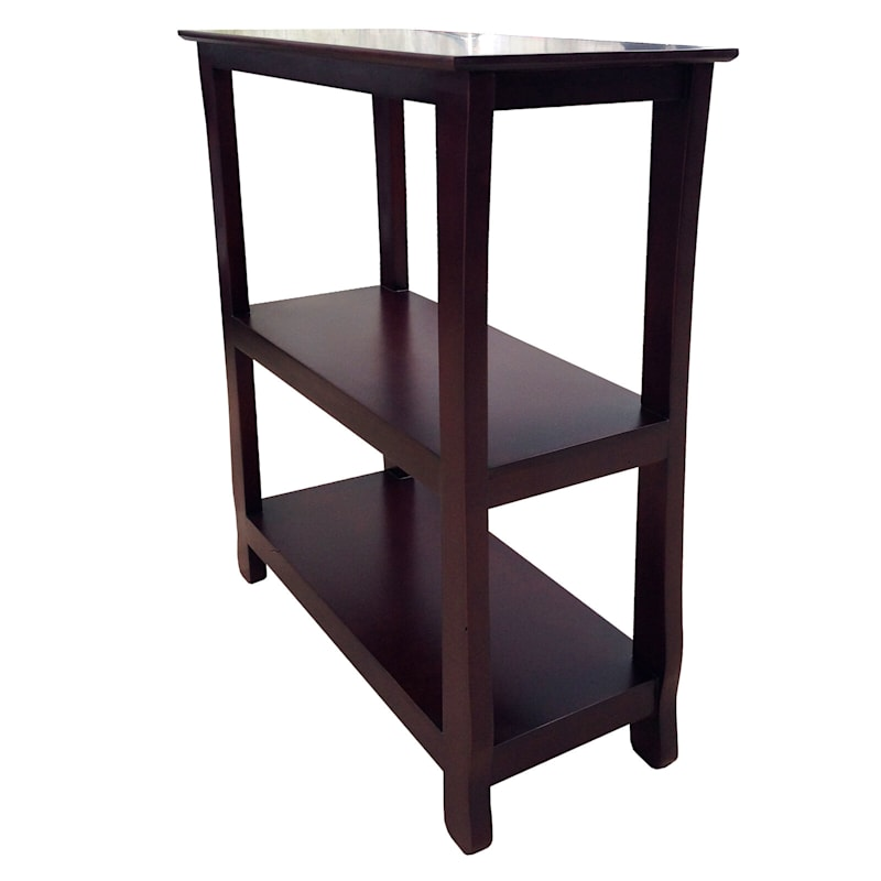Brown Three Tier Thick Leg Bookshelf