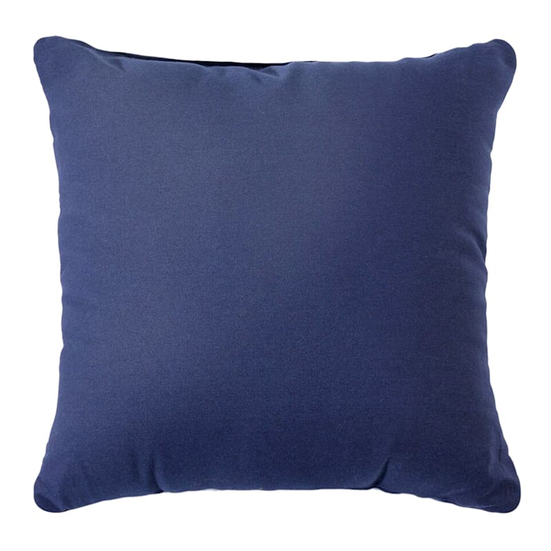 Navy Solid Color Pillow 18X18