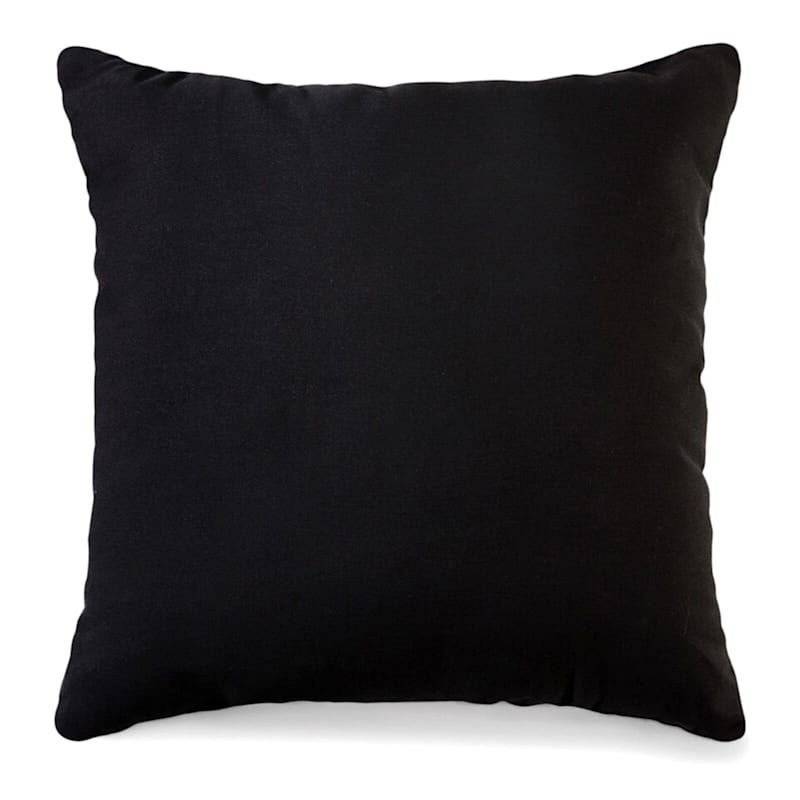 Black Solid Color Pillow 25X25