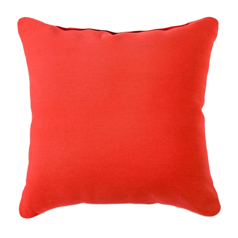Red Solid Color Pillow 25X25