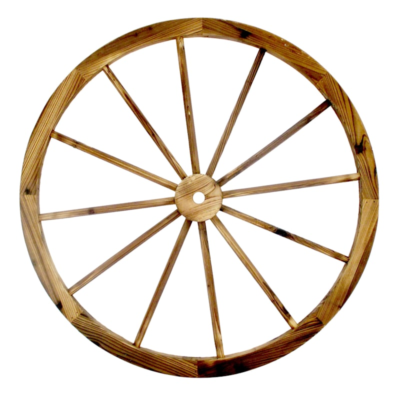 36in. Wood Wagon Wheel Outdoor Rustic D�cor