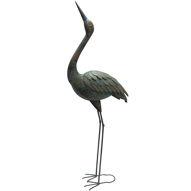 Metal Crane Statue/Head Up