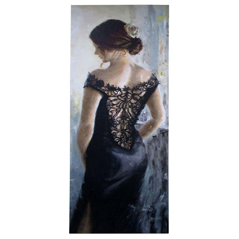 12X36 Lace Dress Canvas Art