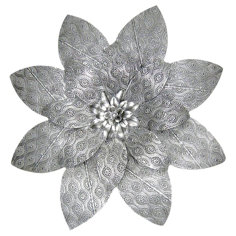 23X23 Embossed Metal Flower