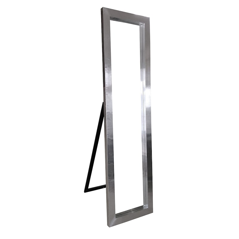 18X67 Aluminum Veneer Frame Cheval Floor Mirror