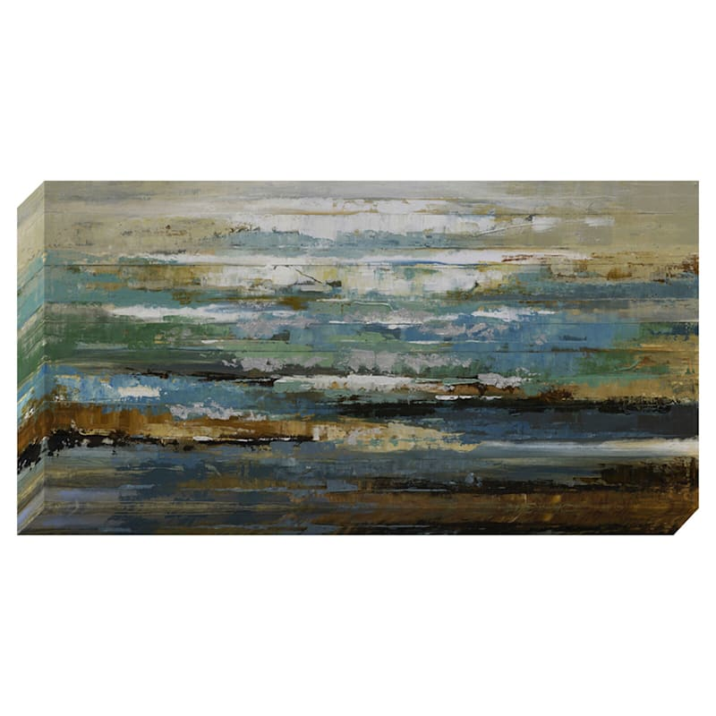 24X48 Blue Waves Enhanced Canvas