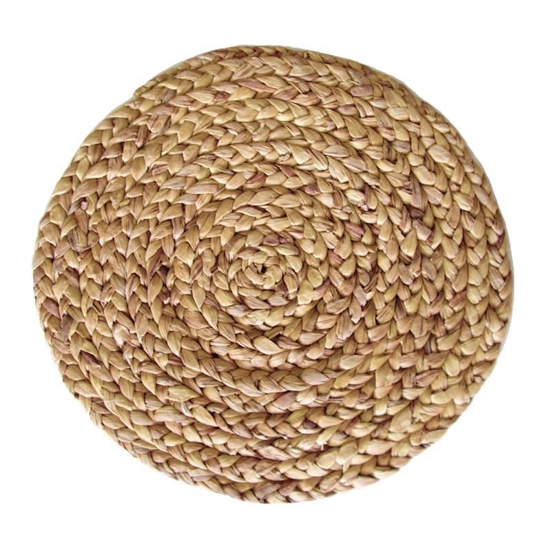 Water Hyacinth Natural Round Placemat