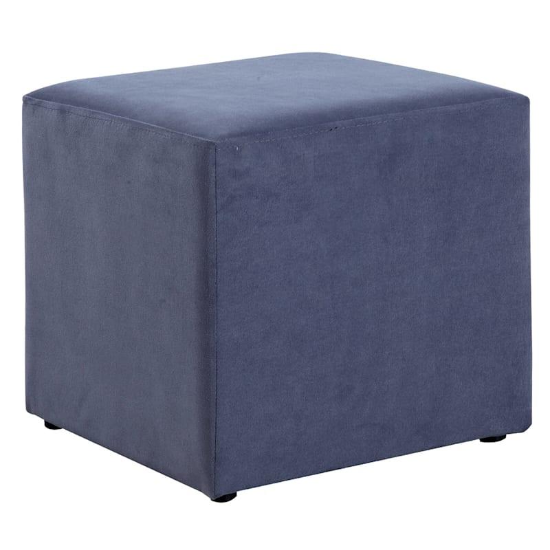 Addie Grey Cube Ottoman