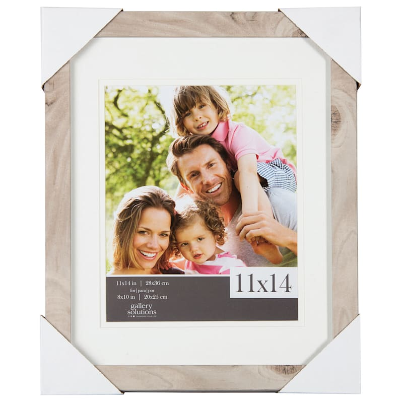 11X14 Matted To 8X10 Linear Profile Double Mat Portrait Photo Frame