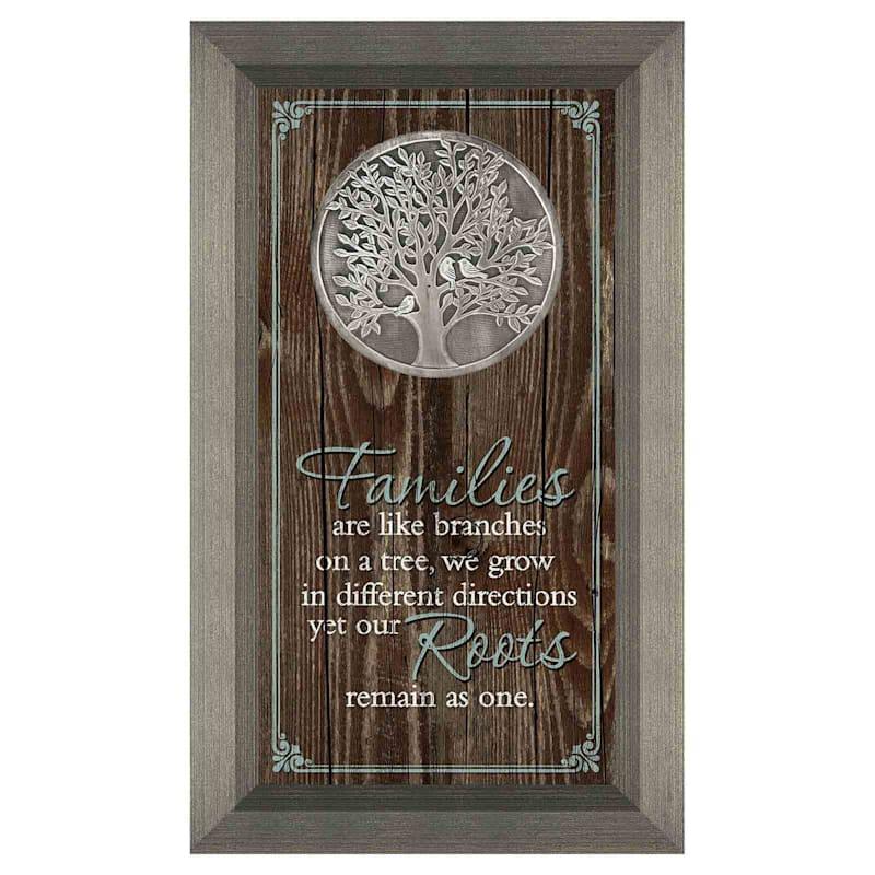 7X13 Family Tree Medallion Art Under Glass