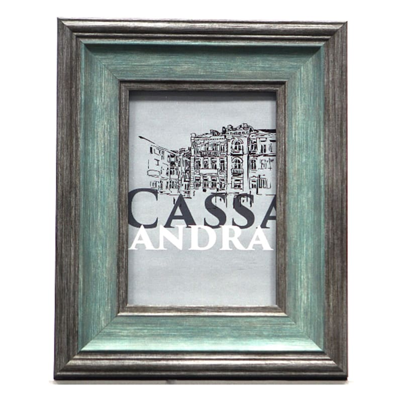8X10 Turquoise/Grey Tabletop Frame