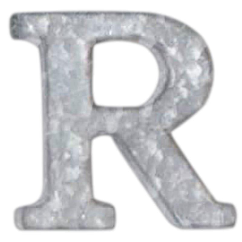 12in. Galvanized Metal Monogram R
