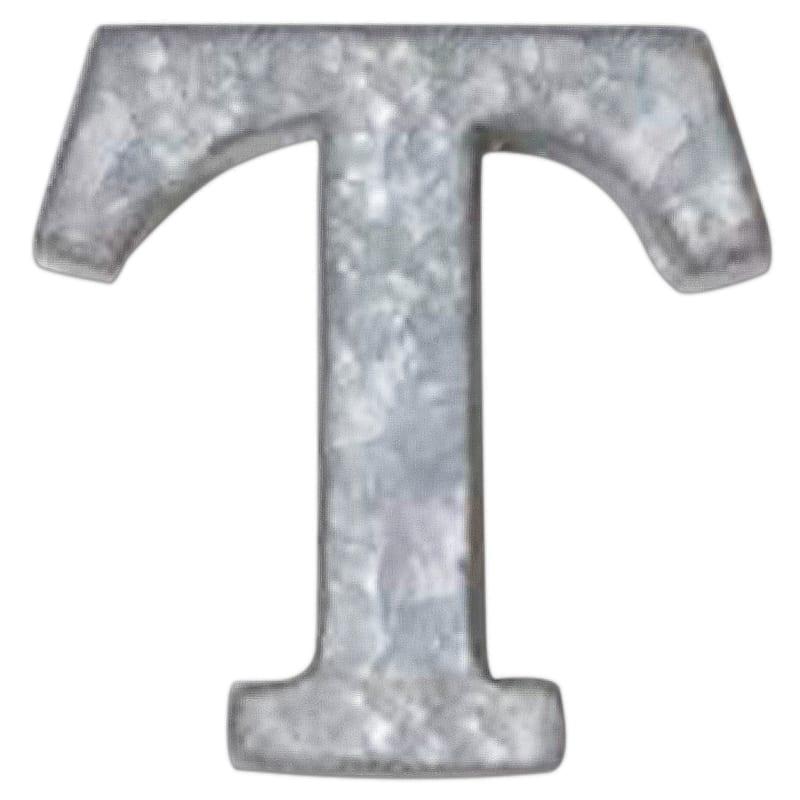 12in. Galvanized Metal Monogram T