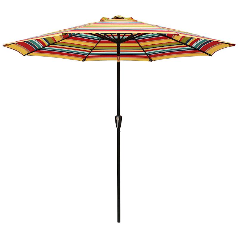 Steel Macrae Round Crank And Tilt Outdoor Umbrella, 9'