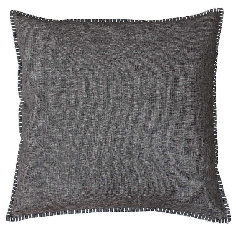 Charleston Grey Reversible Linen Pillow 22in.