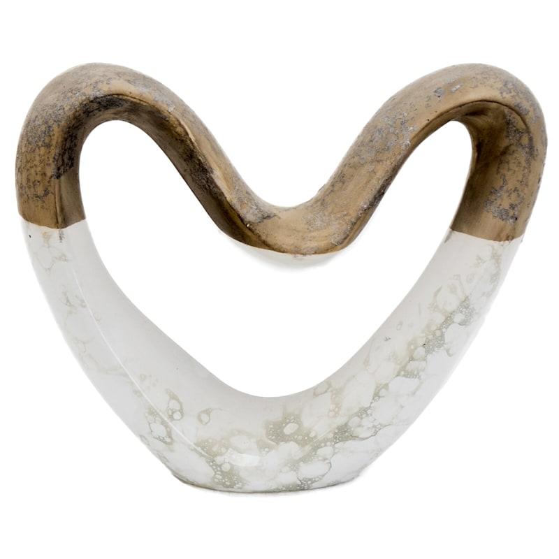 12X10 Ceramic Heart Decoration