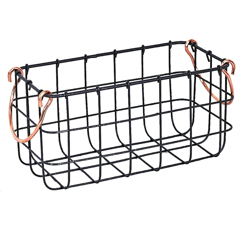 Small Rectangle Wire Basket Bronze