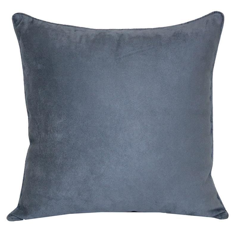 Slate Heavy Faux Suede Pillow 18X18