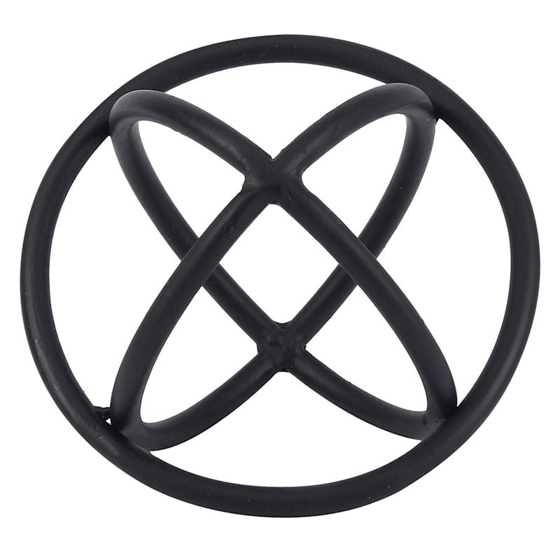 6X5 3-Ring Metal Black Sphere
