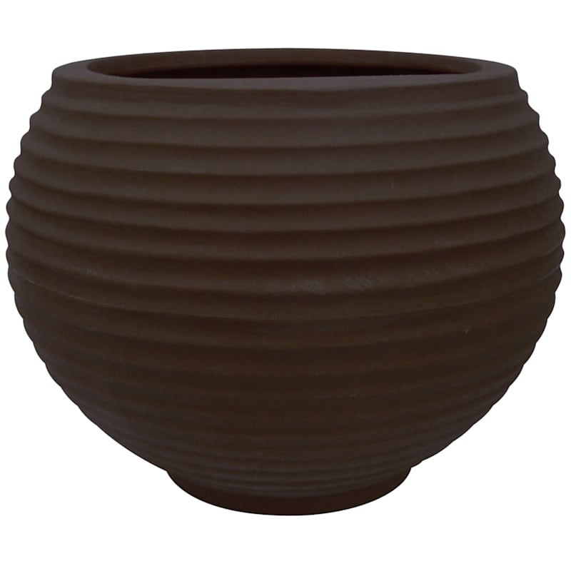 12X16.5 All Weather Proof Polyresin Lattice Bowl Coffee