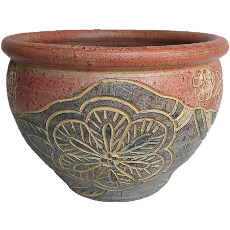 8.5in. Traditional Thai Planter Grpc