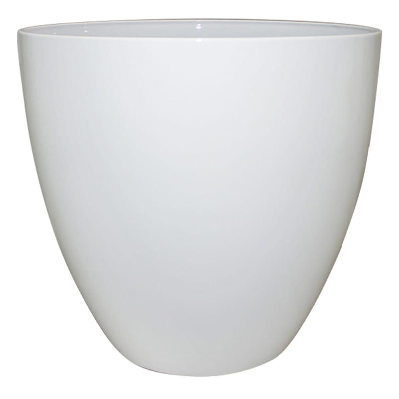 13in. Resin Egg Planter Solid White
