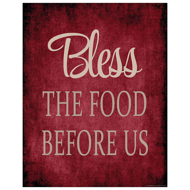 3-Piece 11X14 Bless Food Family Love Canvas Wall Art