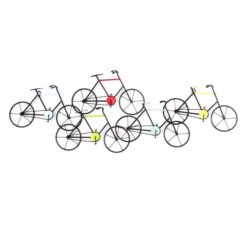 41X15 Metal Wall Bicycle Set Wall Art