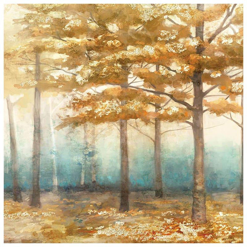 24X36 Aqua Trees Canvas