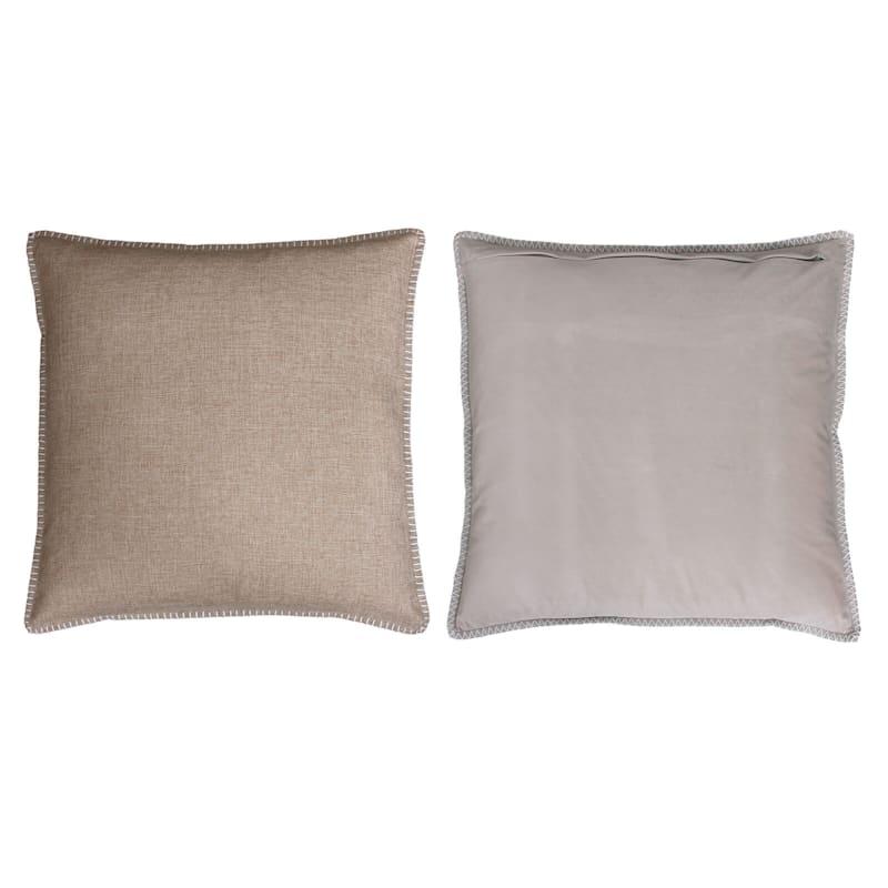 Charleston Natural Reversible Linen Pillow 22in.